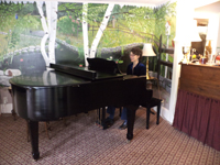 Katherine Mayfield, wedding pianist, at Clay Hill Farm Restaurant